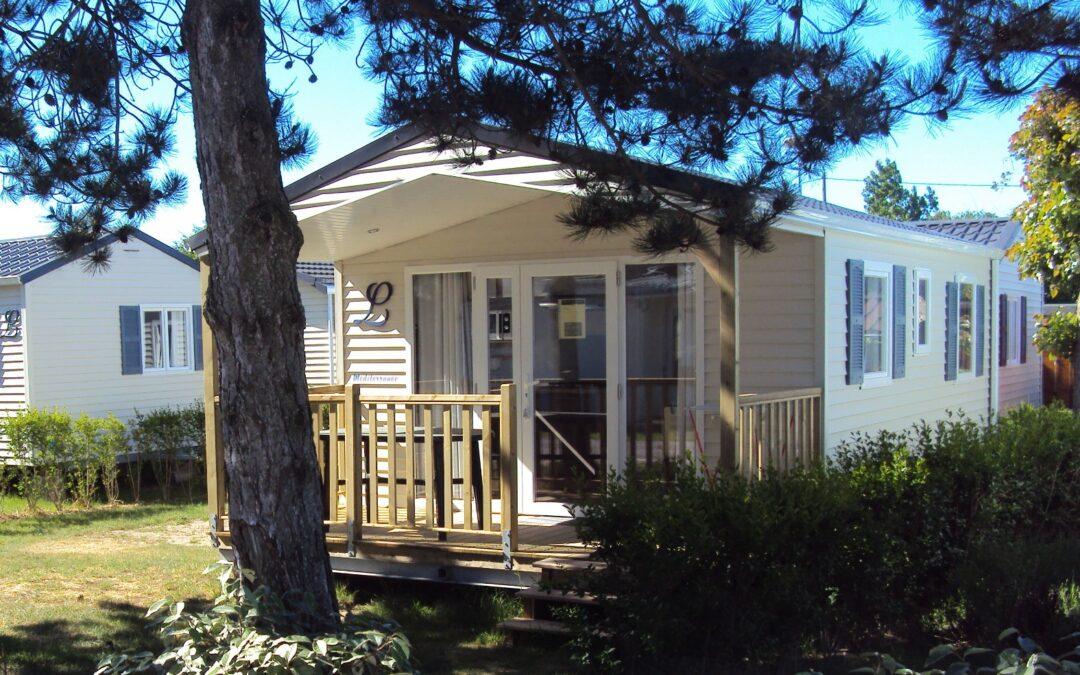 Location mobil home - Camping La Foret Stella Plage, réservation de mobil-home et emplacement en bord de mer
