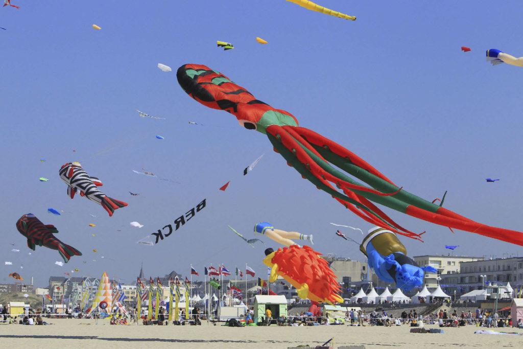 Berck sur mer, festival du cerfs-volants