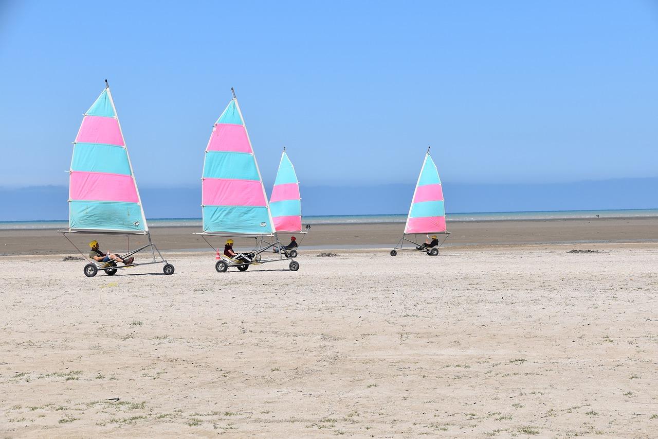 char a voile le touquet - Camping La Foret Stella Plage, réservation de mobil-home et emplacement en bord de mer